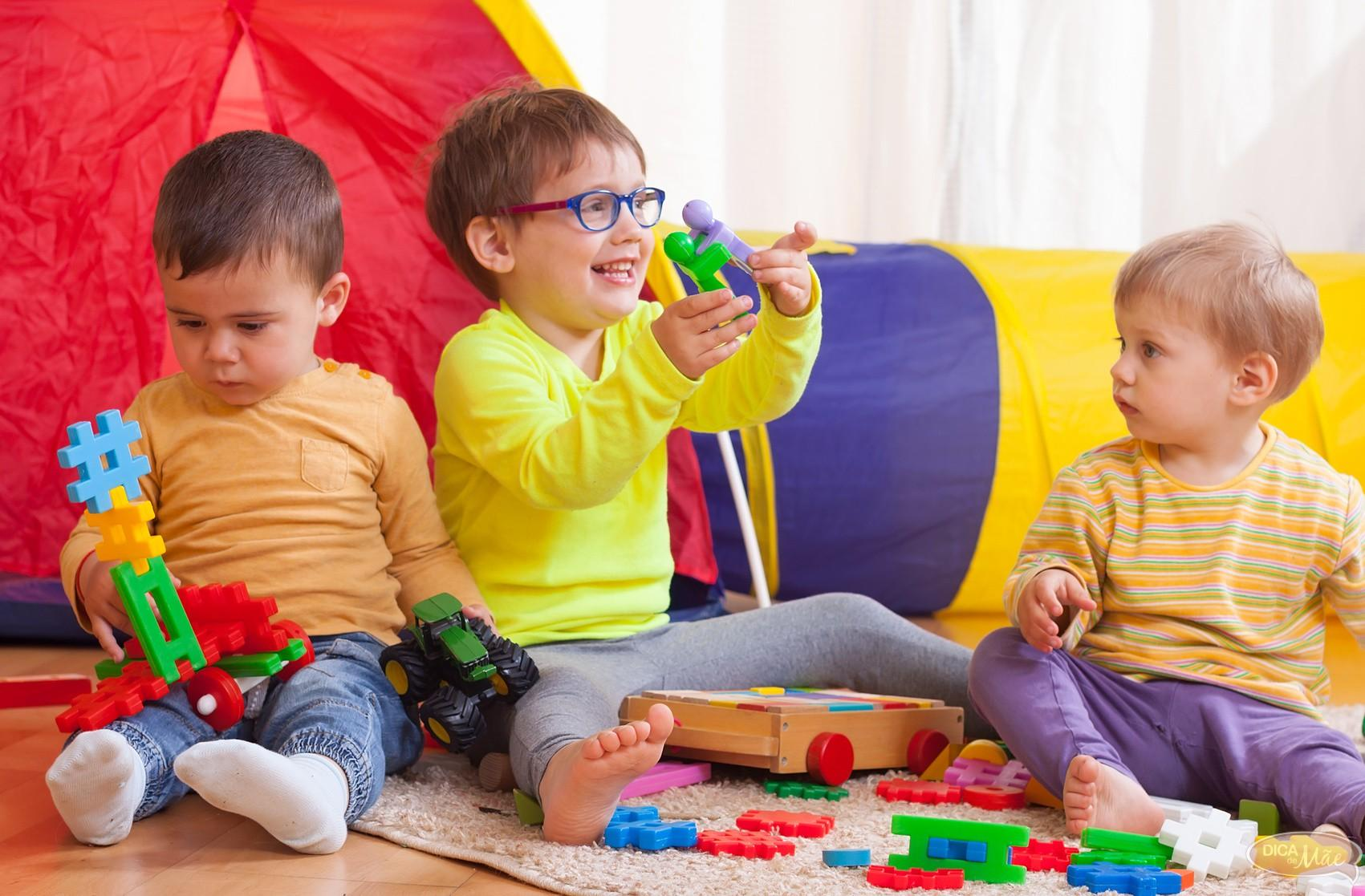 children playing together at home